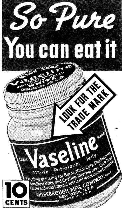 Vaseline alimentaire: manger de la vaseline?