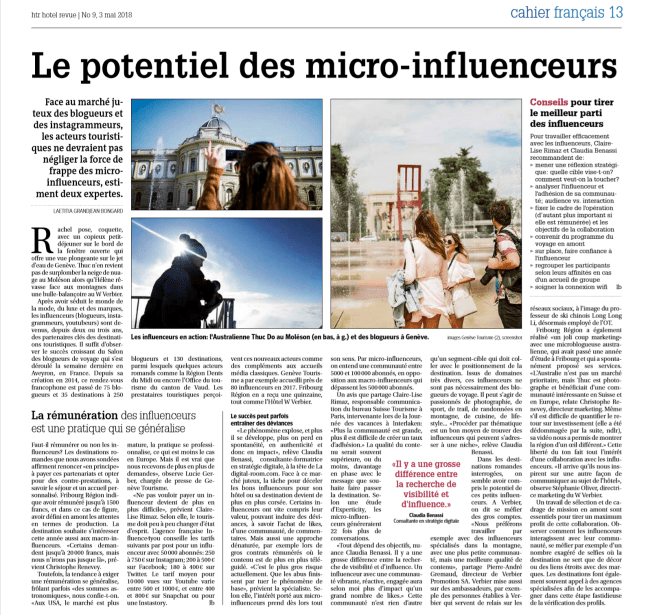 blogueurs influenceurs instagrammers tourisme voyage influence Claudia Benassi Faltys experte digitale