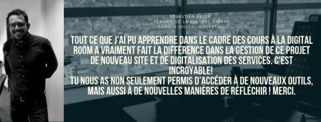 Testimonial Sebastien Peter Culture Ville de Bienne Cursus Digital Marketing