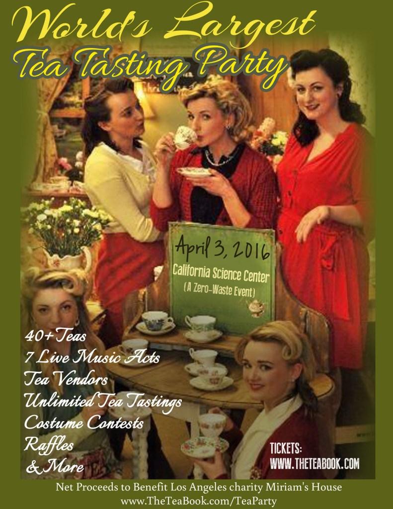 April 3rd Tea Tasting at California Science Center - Retro Flyer
