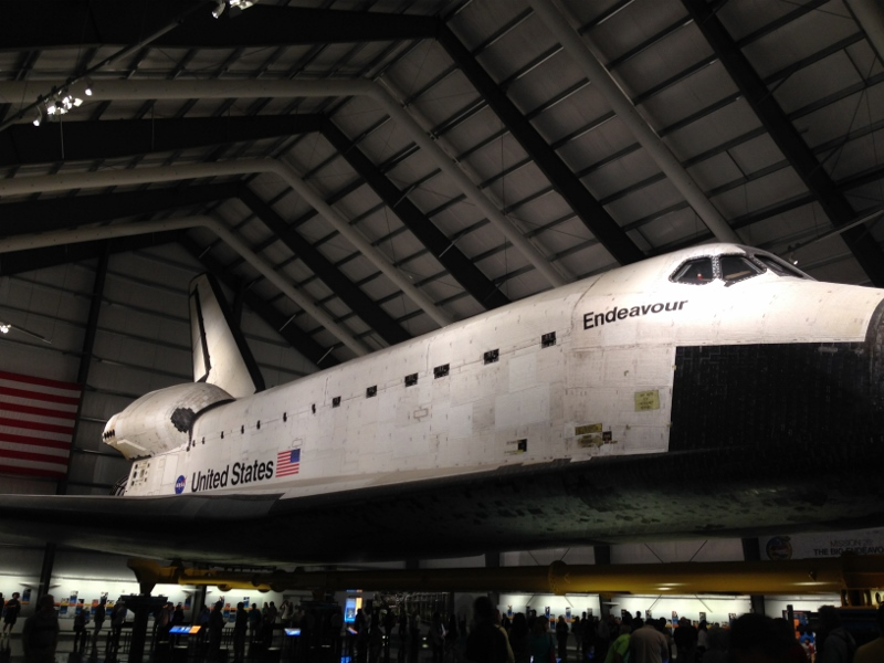Viewing Space Shuttle Endeavour