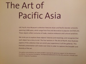 Visiting the Pacific Asia Museum