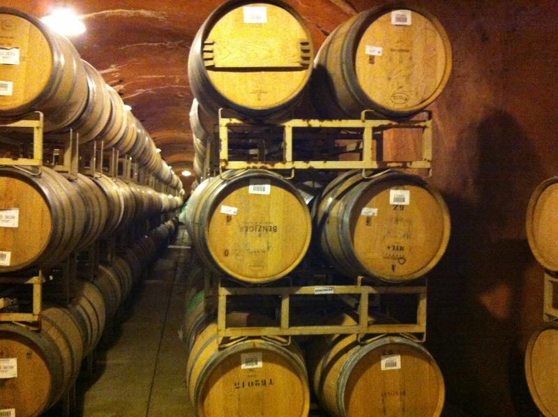 Benziger wine cave