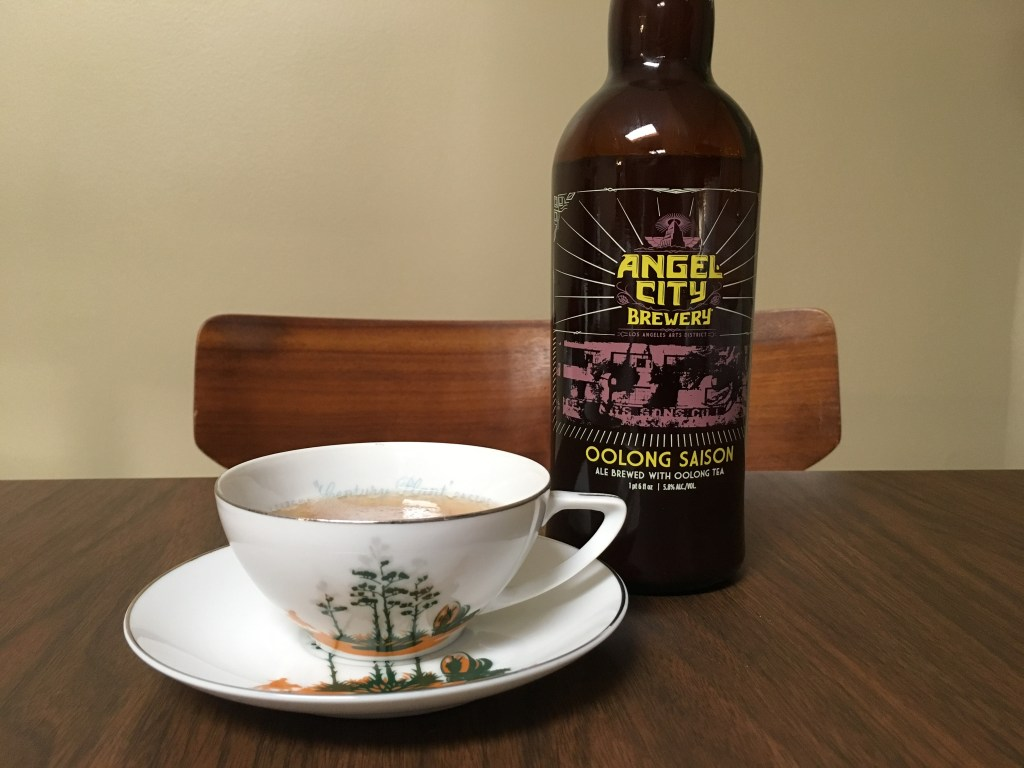 Sampling Angel City Brewery's Oolong Saison