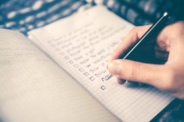liste, méthode, organisation, todo list