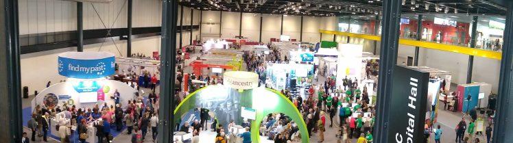RootsTech Londres salon des exposants RootsTech London exhibit hall