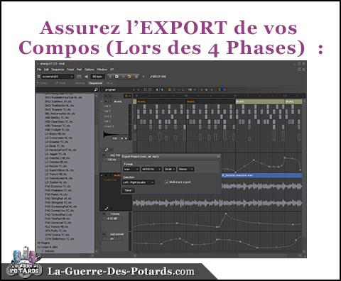 production musicale export morceau