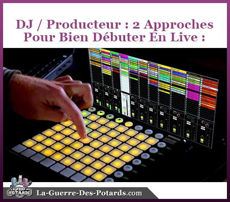 debuter live dj