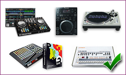 materiel dj production musicale live