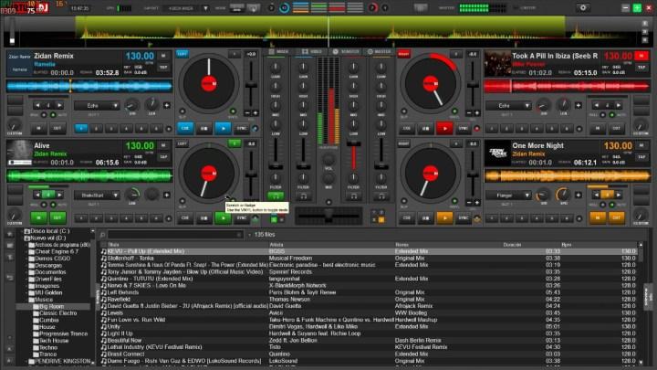 Interface de Virtual DJ