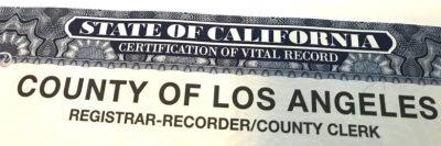 LA Marriage Certificate