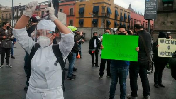 Cacerolazo restauranteros restaurantes CDMX Pandemia Coronavirus Crisis