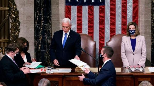 Mike Pence Pelossi El Congreso de EE.UU. valida el triunfo de Biden y Trump acepta la transición
