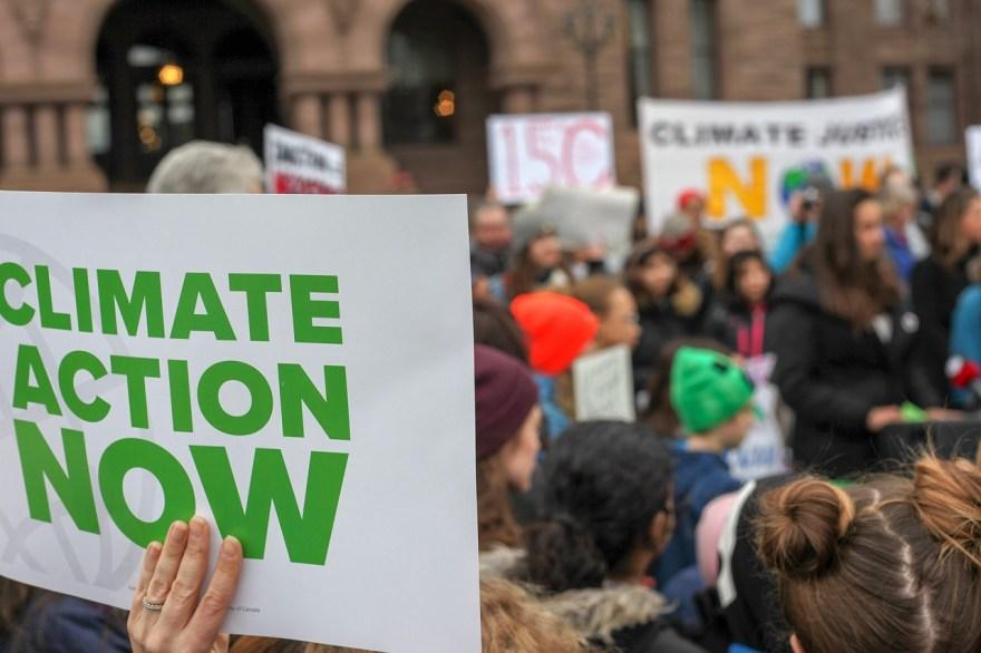 protesta cambio climático
