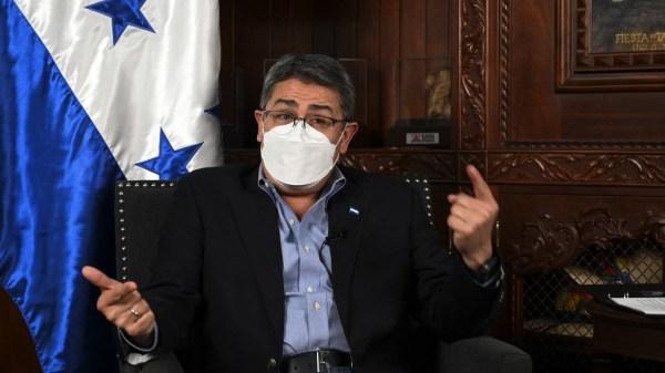 El presidente de Honduras, Juan Orlando Hernandez