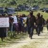 Foto zapatistas que viajaron a Europa