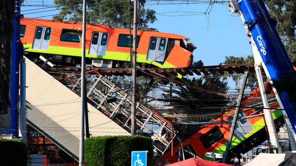 Foto del día del colapso de la línea 12
