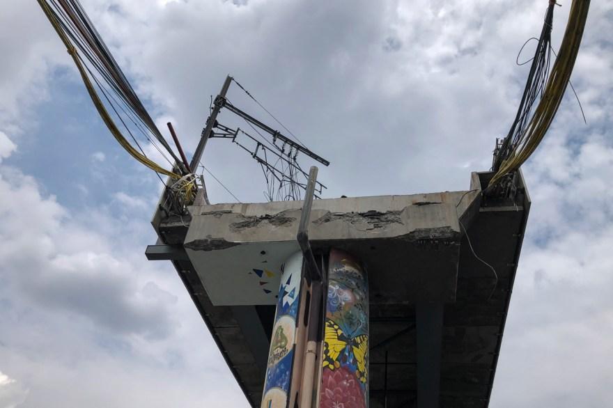 escombros metro accidente linea 12 l-12 colapso metro tláhuac