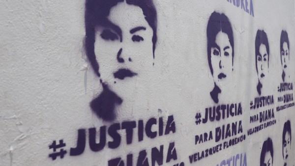 Foto de la protesta por Diana Vazquez para ilustrar feminicidios