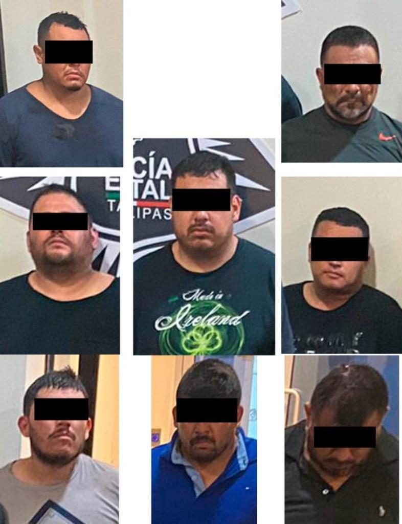 Foto de los detenidos por la matanza en Reynosa