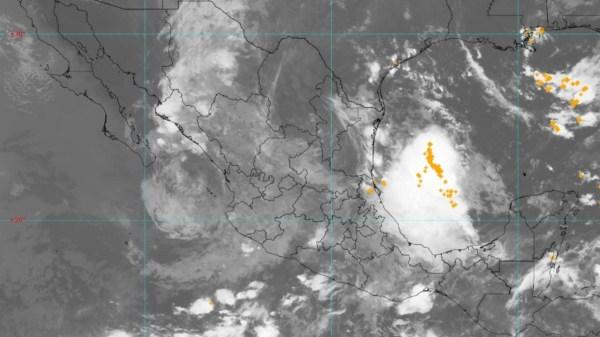 Foto satelital de la tormenta tropical enrique