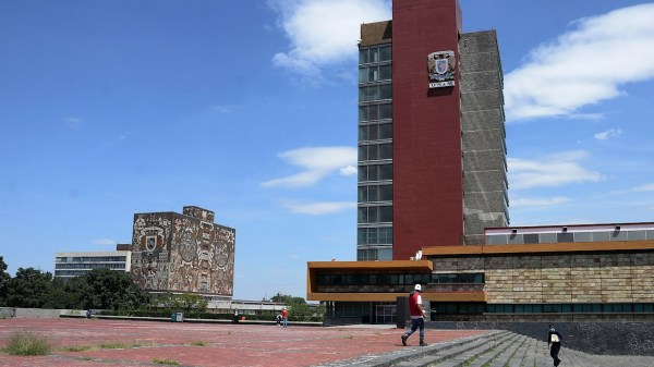Foto de la rectoría de la UNAM
