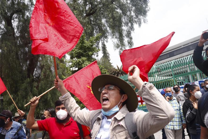 Foto de la La manifestación de apoyo a Cuba