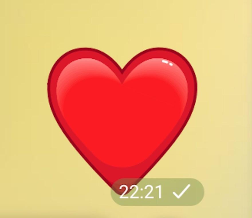 El corazón rojo fue el segundo emoji más utilizado
