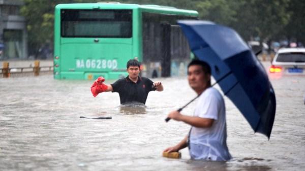 Lluvias azotan a China