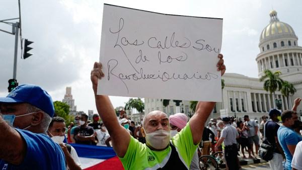 Foto marchas en cuba