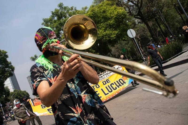 protesta indígenas resistencia cdmx
