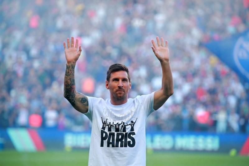 Messi en Parque de los Príncipes
