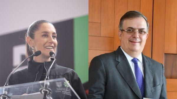 Encuesta da ventaja a Sheinbaum sobre Ebrard como candidata de Morena en 2024