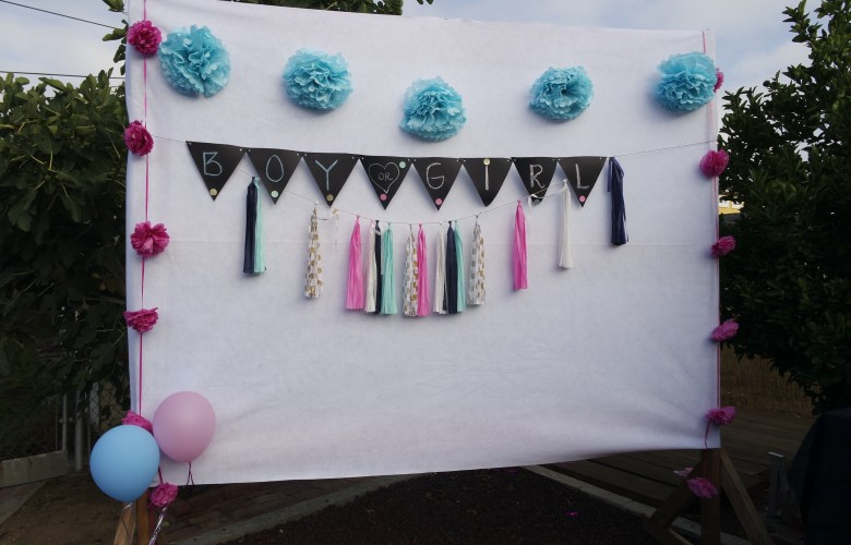 DIY Gender Reveal Backdrop