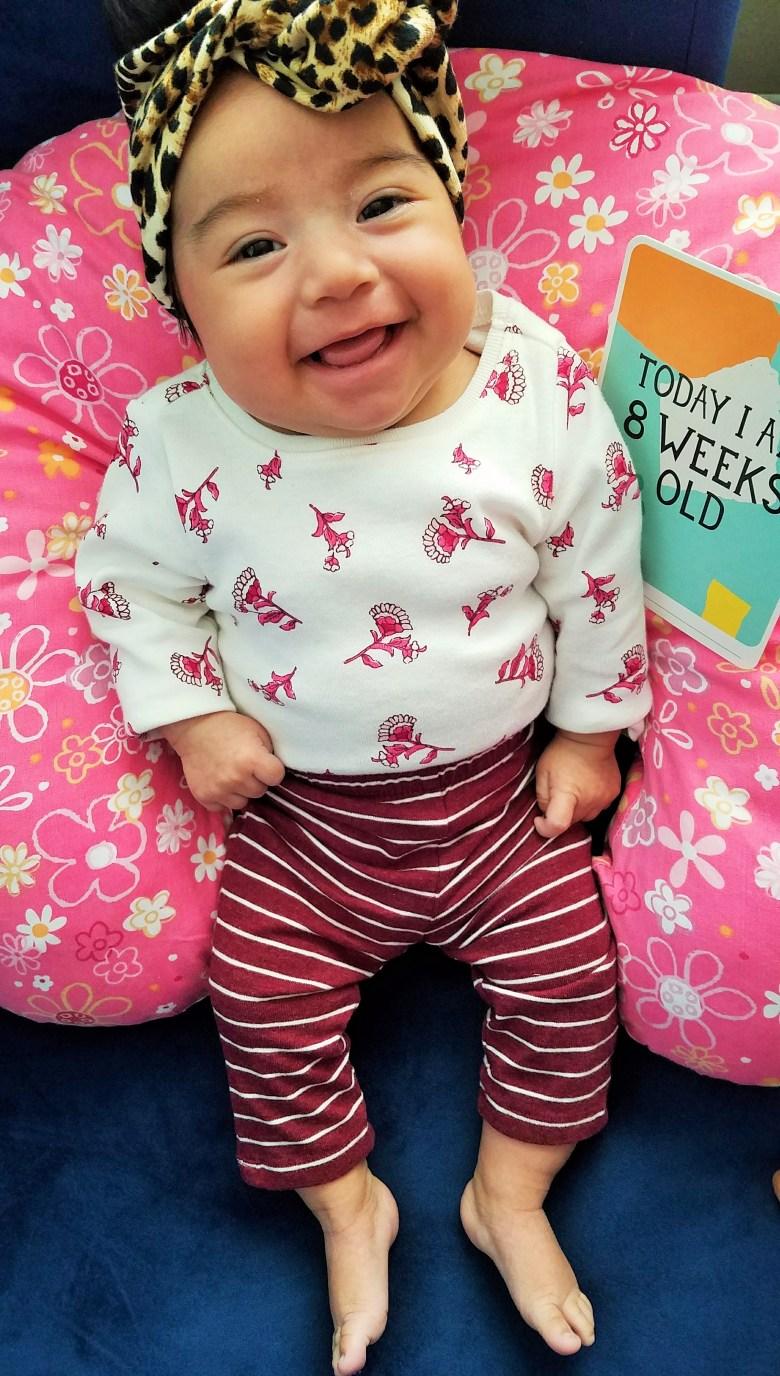 Milestone Baby Cards 8 weeks