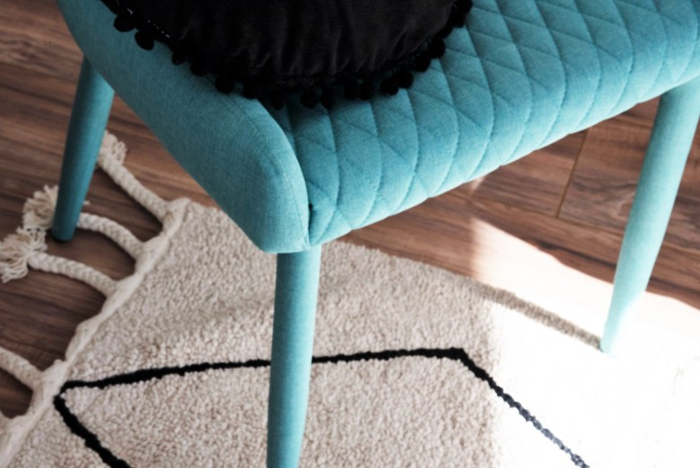 Black and Teal Home Office Decor