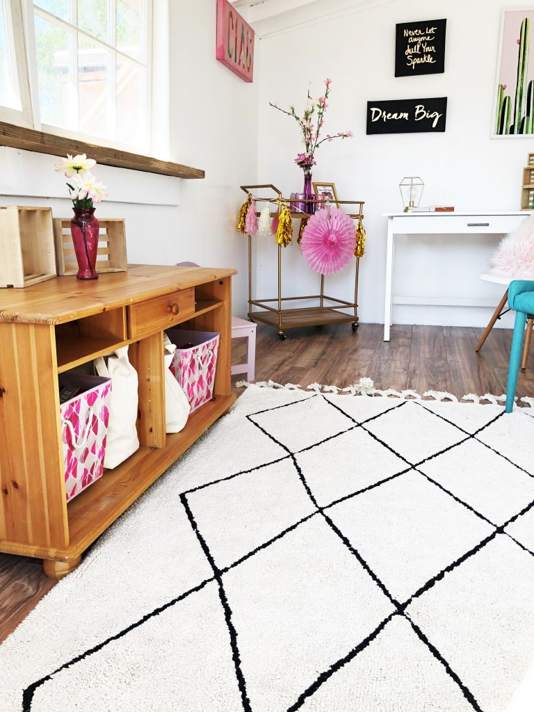 Lorena Canals Bereber Rug in home office