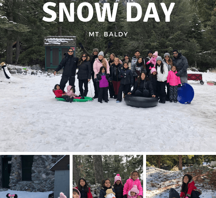 Family Snow Day in Mount Baldy