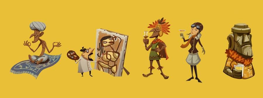 Detalle de Swinging Jivecat Vodoo Lounge, un juego con arte de Sergi Marcet