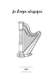 Coloriage harpe