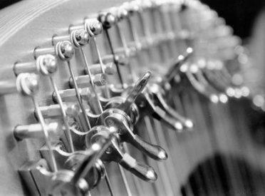 Détail crochets harpe celtique