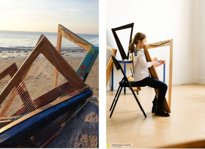 harpe en carton pop harpe