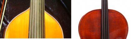 Difference de forme de caisse violoncelle et viole de gambe