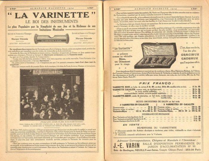Varinette Almanach Hachette 1924