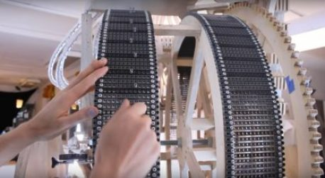 Marble machine lego technics installation