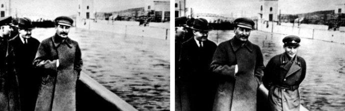 Staline qui fait effacerNikolaï Lejov