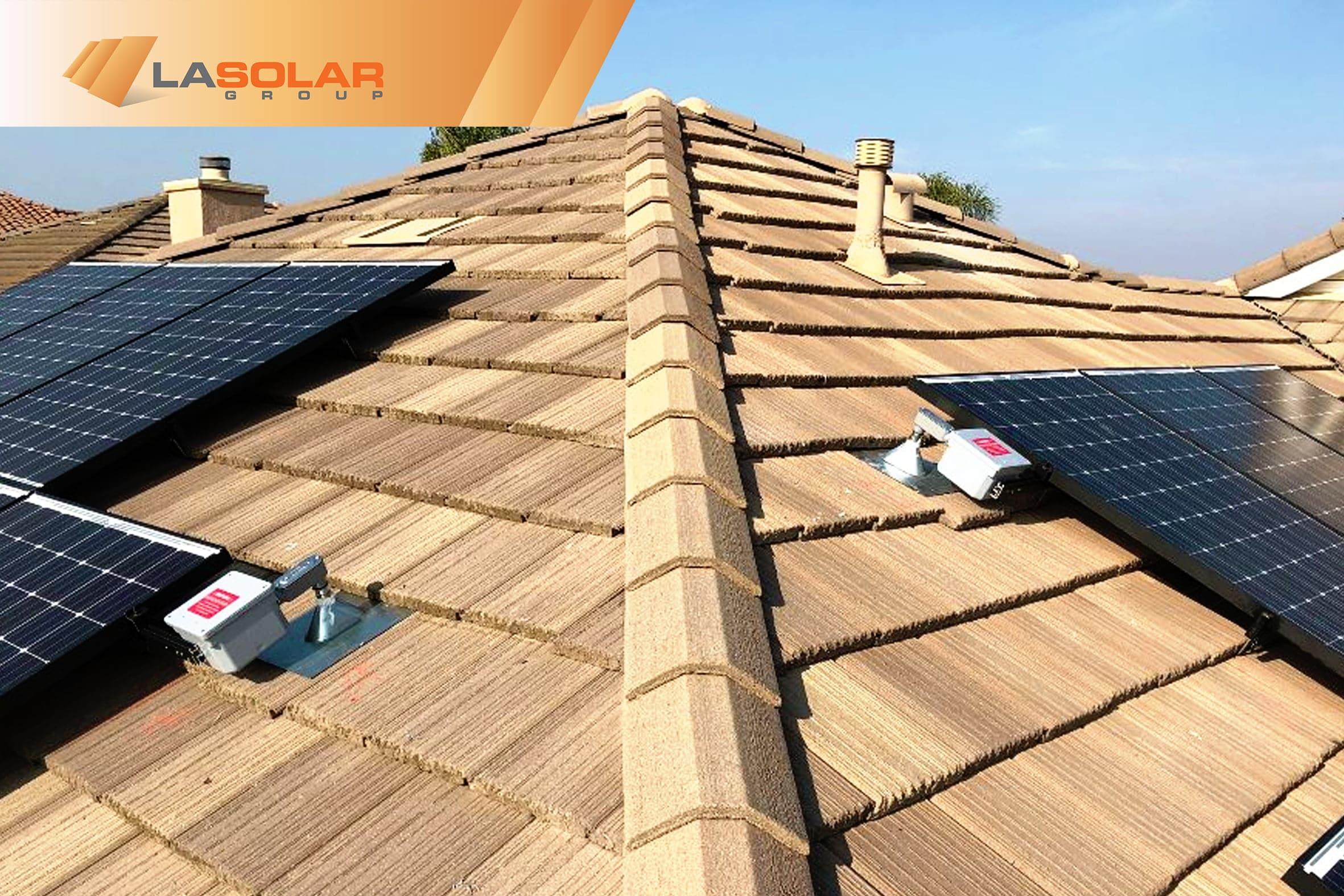 roof tiles solar panel installation