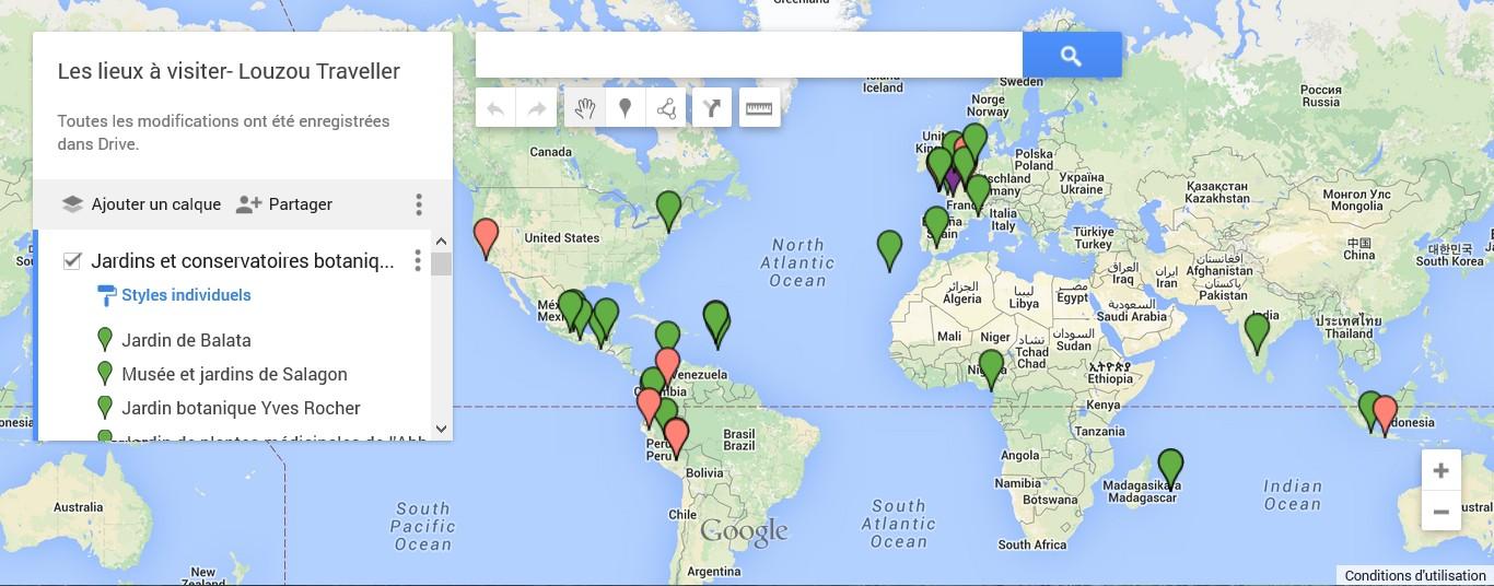 La Carte Interactive Des Lieux à Visiter En Lien Avec Les Plantes