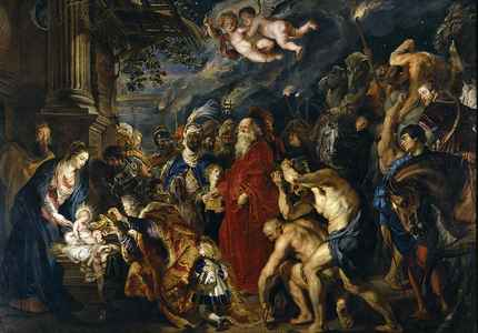 L'adoration des Mages, Rubens, XVII°s