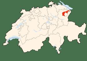 Carte d'Appenzell Rhodes-Exterieur